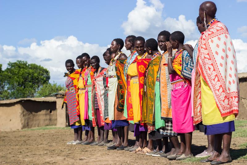 Grupo de mujeres masais en Masai Mara